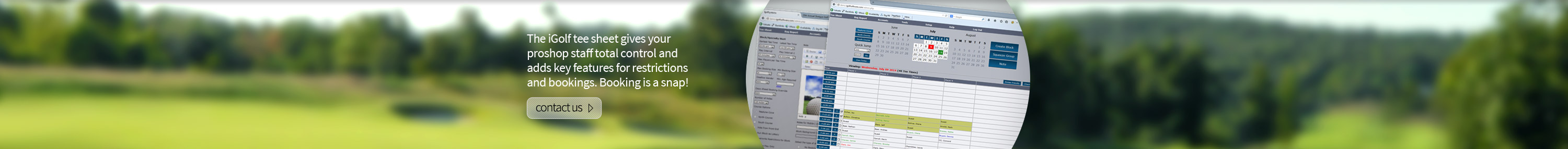 iGolf Tee Time Booking Software